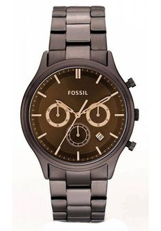 Price:$118.75 #watches Fossil FS4670, Stainless steel case, Stainless steel bracelet, Brown dial, Quartz movement, Scratch-resistant mineral, Water resistant up to 5 ATM - 50 meter - 165 feet