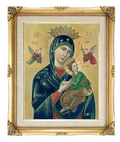 """Our Lady of Perpetual Help Framed Art, 16"""" x 20"""" - MADE IN ITALY"""