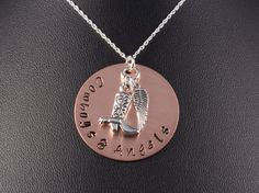 Sterling Silver Hand Stamped Necklace Cowboys by KrisTsCreations, $24.00