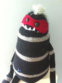 Smug Monster SmUgly plush upcycled from by BirdIsTheWordDesign, $30.00