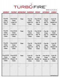 Turbo Fire Class Schedule  Turbo Fire Reviews Calendar And
