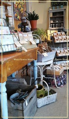 Garden, apothecary & gifts. Retail shop #display