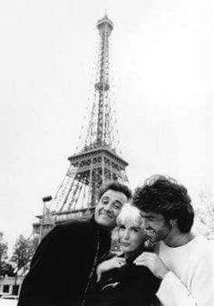 Andrew Ridgeley, George Michael and Paula Yates