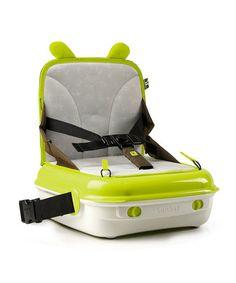 Brown & Lime Green YummiGo Booster Seat