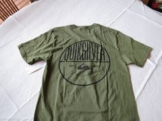 Men's Quiksilver t shirt S slim ft Shipwreck TEE surf skate brand NEW GNG0 green #Quiksilver #tshirt