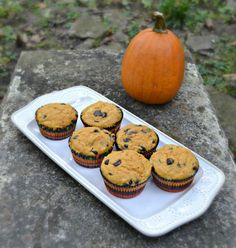 Perfect fall recipe! These pumpkin chocolate chip muffins with cheesecake swirl are great for breakfast, snack, or dessert!