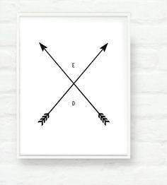 Arrows Personalized print by prettymod