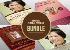 Memorial Funeral Program Bundle by loswl on @creativemarket