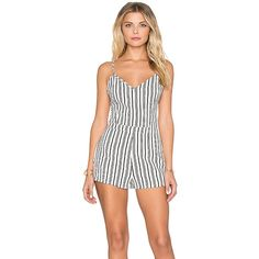 Lucca Couture Striped Fitted Romper Rompers ($74) ❤ liked on Polyvore featuring jumpsuits, rompers, rompers & jumpsuits, lucca couture, stripe romper, striped jumpsuit, white jumpsuit and fitted romper