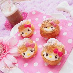 Hello Kitty cream puffs by Misato (@misameria)