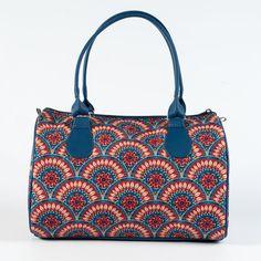 Top Handle Women Designer Handbag Bright Fabric by MyBrightBag