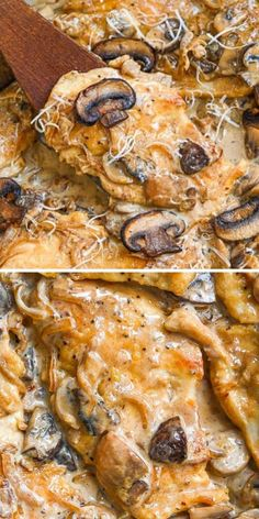 Chicken Pork Recipe, Best Chicken Recipes, Meat Recipes, Freezer Recipes, Healthy Recipes, Creamy Mushroom Chicken, Creamy Mushrooms, Stuffed Mushrooms, Recipes With Chicken And Peppers