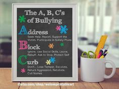 Anti-Bullying, Back to School, Teacher Classroom Decor, School Counselor Gift Bully Prevention