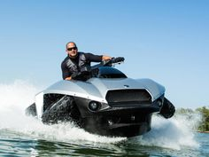 The Quadski is a single seat all-terrain-vehicle that can also operate on the water, making it truly all terrain. One rider can take it from land to water, a process that involves it folding its wheels up into the wells, presumably for better hydro-dynamics.