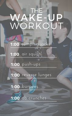 Get fit and tone up before your day even begins. A quick daily workout you can do when you wake-up to jump start your fitness journey.