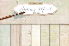 New Freebies Kit of Backgrounds - Spring Mood