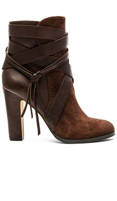 Vince Camuto Charisa Bootie in Cordovan & Mud Cake | REVOLVE