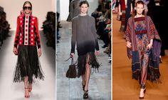 Los flecos se suben a la pasarela de la mano de Valentino, Michael Kors o Etro. #tendencias #modaotoño #flecos