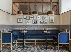 Thompson DC | Parts and Labor Design. Restaurant banquette design.