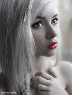 Girl with White Hair :: Digitally Edited by bcr8tive