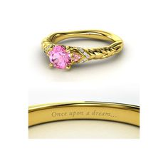 Alianças inspiradas nas princesas Disney GEEKISS ❤ liked on Polyvore featuring jewelry, rings, disney, accessories, engagement ring and engagement rings