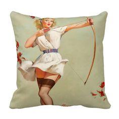 Archery Pin-Up Girl Pillows