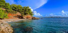 Bucht und schöner Strand auf Hvar