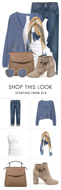 """Fall Blue & Camel"" by brendariley-1 ❤ liked on Polyvore featuring 7 For All Mankind, MANGO, Soaked in Luxury, Just Jamie, Fendi, Sole Society, Christian Dior and fallfashion"