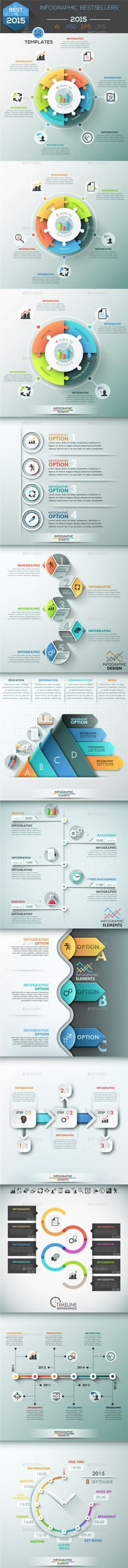 Infographic Bestsellers of 2015. Part 2 Template. Download here: http://graphicriver.net/item/infographic-bestsellers-of-2015-part-2/14327862?ref=ksioks
