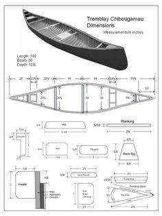 specification-page-tremblay.jpg (720×960) Wood Canoe, Canoe Boat, Canoe And Kayak, Boat Crafts, Water Crafts, Boat Drawing, Wood Boat Plans, Kayak Paddle, Boat Projects