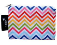 rainbow chevron snack (or anything) baggie- small