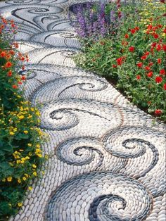 Great idea for garden path.