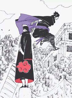 Kisame, just walk away! Itachi, where are you? Anime Naruto, Otaku Anime, Naruto Madara, Naruto Fan Art, Boruto, Anime Guys, Manga Anime, Wallpaper Naruto Shippuden, Naruto Wallpaper