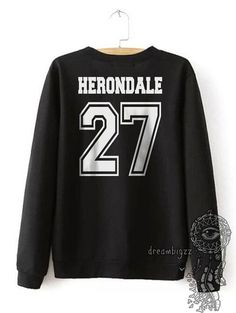 Herondale 27 Idris Universidad cuello redondo por Dreambigzz