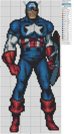 The Avengers – Captain America free pattern