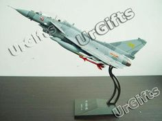 UrGifts --- China PLA J-10 Chinese Air Force Combat Aircraft Alloy Model Double Seats NEW with a Box