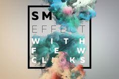 Smoke Text Scenes #ink #elegant