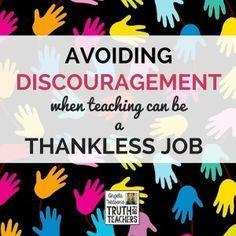 Avoiding discouragem