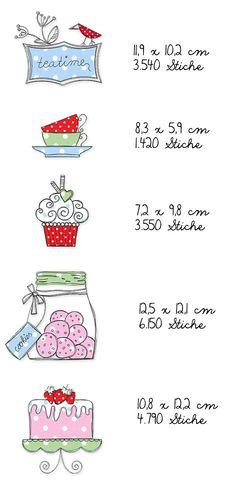 Teatime Doodles Ein Tässchen Tee gefällig? Dazu ein Törtchen? Vielleicht ein Muffin? Mit den passenden Stickdateien wird jede Teeparty zum Vergnügen. Die Motive wirken wie zufällig hingekritzelt, die offenkantig verarbeiteten Applikationen dürfen dabei gerne ein wenig ausfransen, das verstärkt den Skizzier-Effekt. Die genauen Größen der einzelnen Stickmotive und viele wunderbare Designbeispiele meiner Probestickerinnen könnt Ihr hier sehen: Für Designbeispiele Vielen Dank an Kasia von Mä...