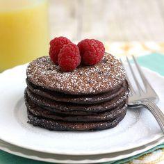 Brownie Batter Pancakes.