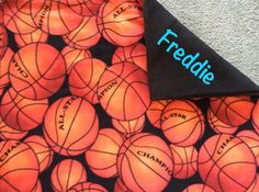 New to Sewdivine77 on Etsy: Basketball double layered blanket/throw (43.00 USD)