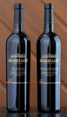 Estate Wines of Markham Vineyards - - look for them at an upcoming wine dinner at Miramonte!