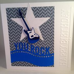 Guitar Star Music Birthday Card On Etsy