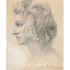 Ideal head of a woman - Michelangelo
