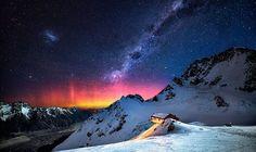 Góra Cooka, Nowa Zelandia Zachwycające zdjęcia nocnego nieba i Drogi Mlecznej widzianej z Ziemi - Joe Monster