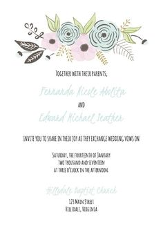 Create Your Own Wedding Invitations With These Free Templates: Free Wedding  Invitation Templates From Cards