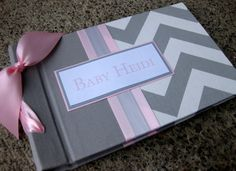 Ultrasound baby photo album -5x7 Chevron brag book choose your own colors on Etsy, $46.00