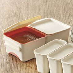 Lekue Sauce and Portion Savers  Preserve perfect portions of broth or sauce in these stackable freezer storage containers.