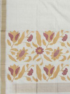 Uppada Saree paper work pallu design