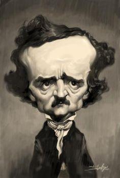 Edgar Allan Poe  By Amir Taqi | Famous People Cartoon | TOONPOOL